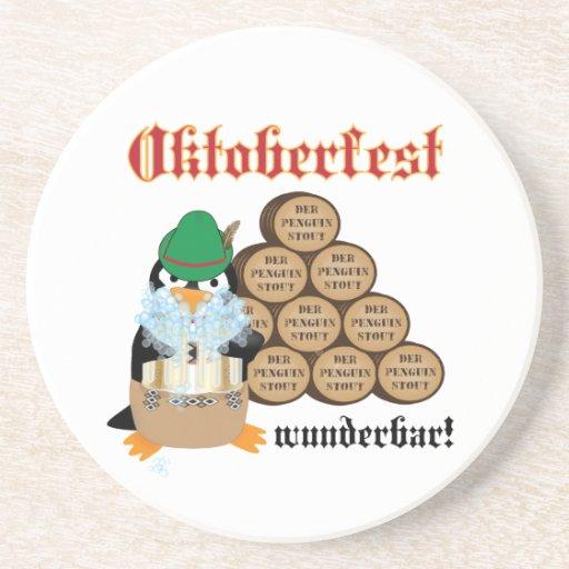 Práctico de costa del pingüino de Oktoberfest Posavasos Para Bebidas