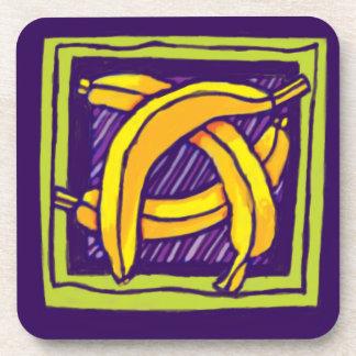 práctico de costa del plátano posavasos de bebida