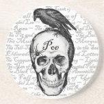 Práctico de costa del Poe del cuervo Posavasos Cerveza