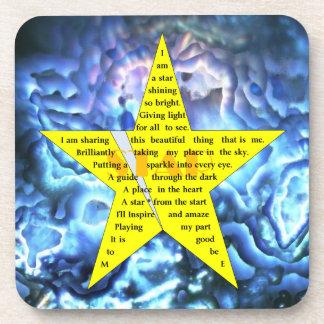 Práctico de costa del poema de la estrella del oro posavasos de bebidas
