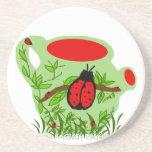 Práctico de costa del pote del té del insecto de l posavasos diseño