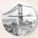 Práctico de costa del puente de Brooklyn Posavaso Para Bebida