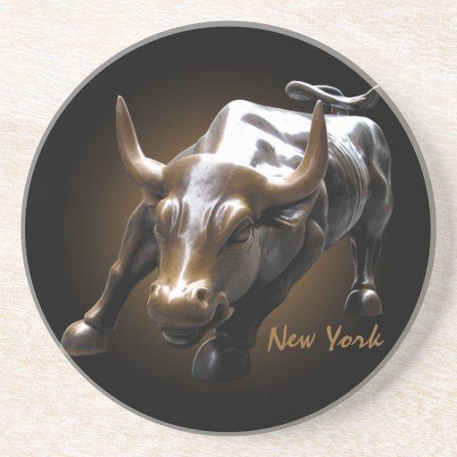 Práctico de costa del recuerdo de Bull de la señal Posavasos Para Bebidas