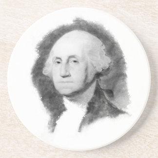 Práctico de costa del retrato de George Washington Posavasos Cerveza