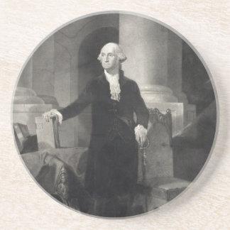 Práctico de costa del retrato de George Washington Posavaso Para Bebida