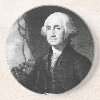 Práctico de costa del retrato de George Washington Posavasos Manualidades