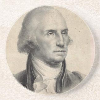 Práctico de costa del retrato de George Washington Posavasos Personalizados