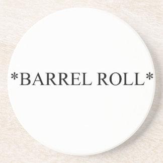 Práctico de costa del rollo de barril 6 posavasos diseño