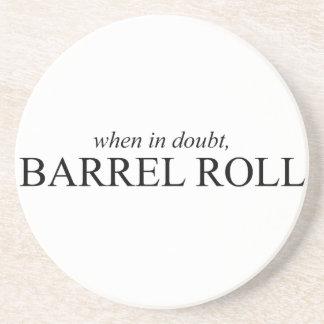 Práctico de costa del rollo de barril 7 posavasos manualidades