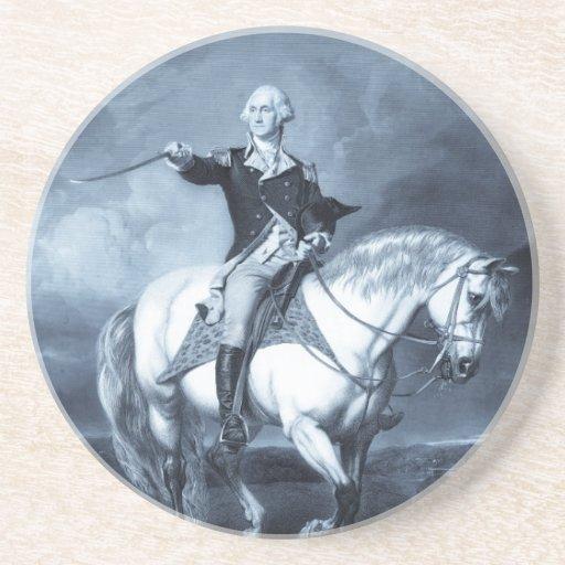 Práctico de costa del saludo de George Washington Posavasos Para Bebidas