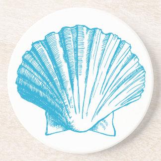 Práctico de costa del Seashell del azul de océano Posavasos Manualidades