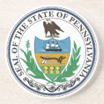 Práctico de costa del sello del estado de Pennsylv Posavaso Para Bebida