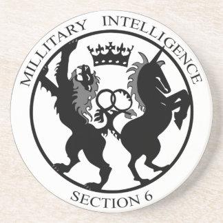 Práctico de costa del servicio secreto del logotip posavasos diseño