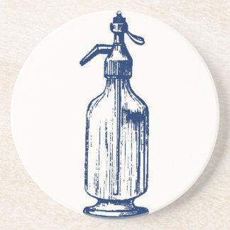 Práctico de costa del sifón de la soda del vintage posavasos manualidades