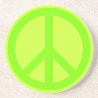 Práctico de costa del símbolo de paz posavasos de arenisca