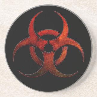 Práctico de costa del símbolo del Biohazard Posavasos De Arenisca