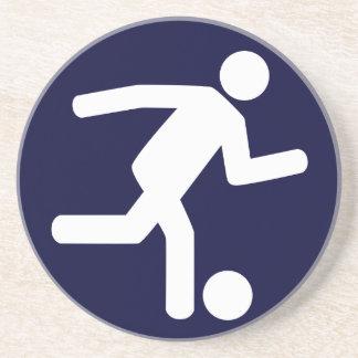 Práctico de costa del símbolo del fútbol del fútbo posavaso para bebida