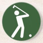 Práctico de costa del símbolo del golf posavasos para bebidas