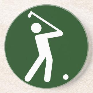 Práctico de costa del símbolo del golf posavasos manualidades