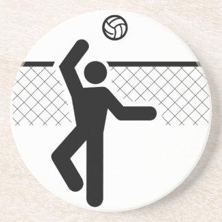 Práctico de costa del símbolo del voleibol posavasos personalizados