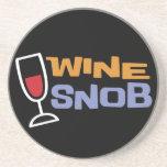 Práctico de costa del snob del vino posavasos cerveza