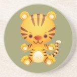 Práctico de costa del tigre de Kawaii Posavasos Diseño