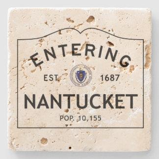 Práctico de costa del travertino de Nantucket que Posavasos De Piedra