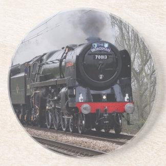 Práctico de costa del tren del vapor posavasos manualidades