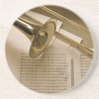 Práctico de costa del Trombone Posavasos Personalizados