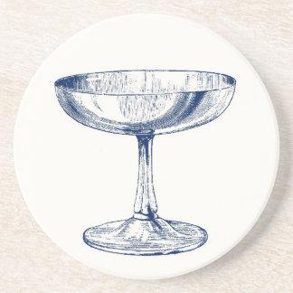 Práctico de costa del vidrio de Champán del vintag Posavaso Para Bebida