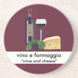 Práctico de costa del vino y del queso posavasos diseño
