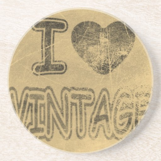 Práctico de costa del vintage #2 del corazón I Posavasos Personalizados