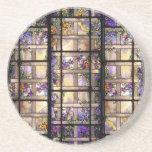 Práctico de costa del vitral de Nouveau Tiffany de Posavasos Manualidades