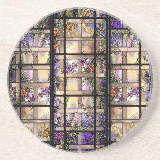 Práctico de costa del vitral de Nouveau Tiffany de Posavaso Para Bebida