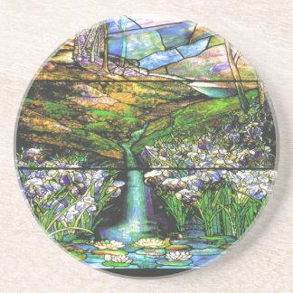 Práctico de costa del vitral de Tiffany del vintag Posavasos Para Bebidas