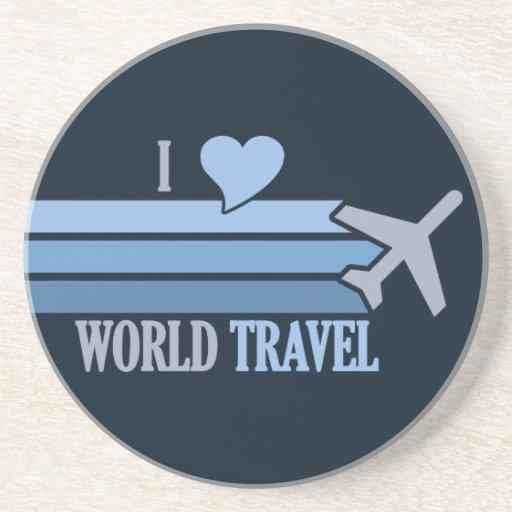Práctico de costa del World Travel, personalizable Posavasos Personalizados