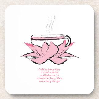 práctico de costa del zen del café posavasos de bebidas