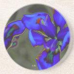 Práctico de costa, diseño redondo, iris azul salva posavasos cerveza