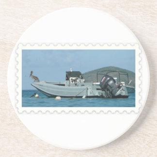 Práctico de costa divertido del barco posavasos manualidades