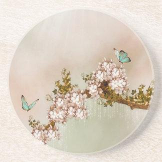 Práctico de costa elegante de las mariposas posavasos manualidades