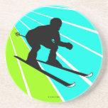 Práctico de costa en declive del esquí posavasos manualidades