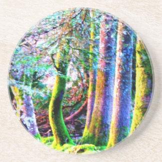 Práctico de costa encantado del arte abstracto del posavasos manualidades