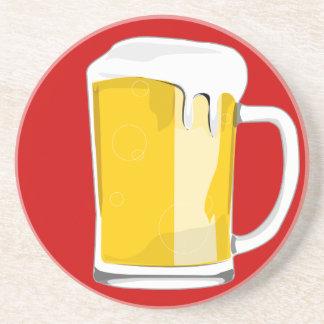 Práctico de costa escarchado de la taza de cerveza posavasos para bebidas