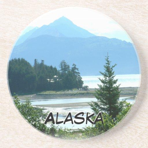 Práctico de costa escénico de la opinión de Alaska Posavasos Manualidades