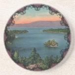 Práctico de costa esmeralda del lago Tahoe de la b Posavasos Para Bebidas