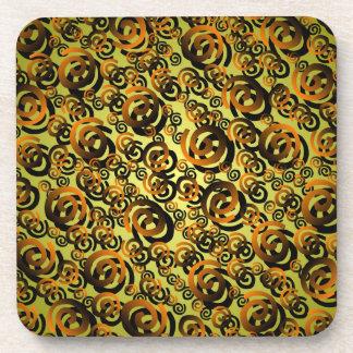 Práctico de costa espiral de cobre del corcho del  posavaso