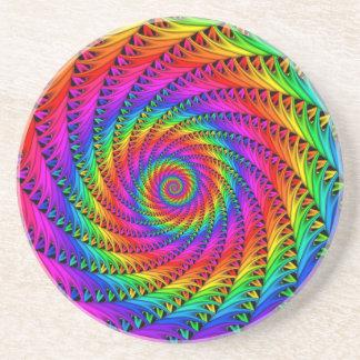 Práctico de costa espiral del arco iris portavasos