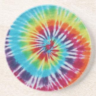 Práctico de costa espiral del arco iris posavasos personalizados