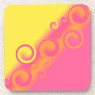 práctico de costa espiral rosado del corcho posavasos
