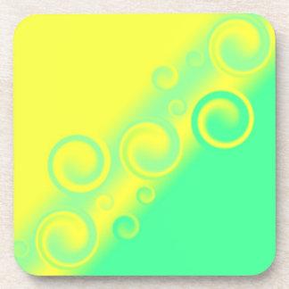 práctico de costa espiral verde del corcho posavasos